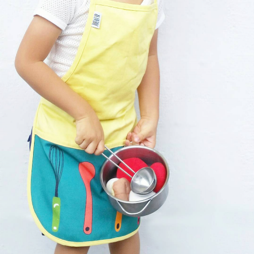 Kids ECO Apron [$32] by way of Aventyr