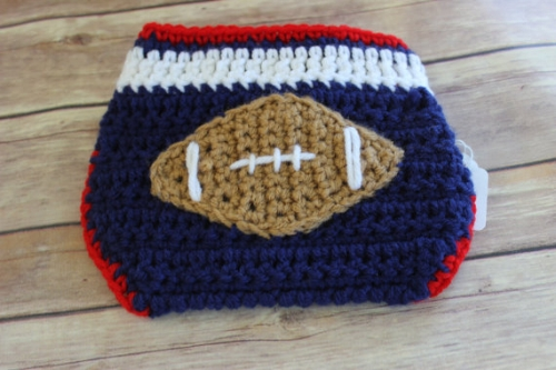 Football Diaper Cover [$10] by way of Siena's Maine Design