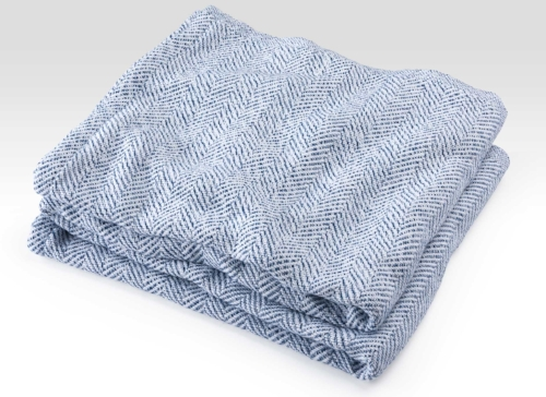Cotton Herringbone Blanket [$313] by way of Brahms Mount
