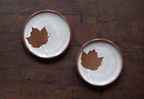 Ceramic Maple Leaf Plate [$24] by way of The Good Supple