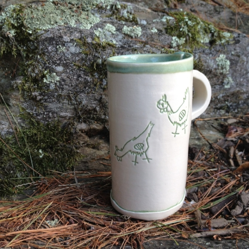 Rocky Bottom Chicken Mug [$30] by way of Jessica Teesdale