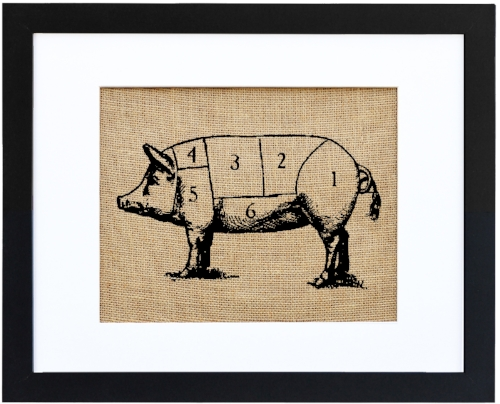 Vintage Pig [$50] by way of Fiber and Water