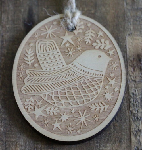 Oval Holiday Bird Ornament [$10] by way of Swallowfield