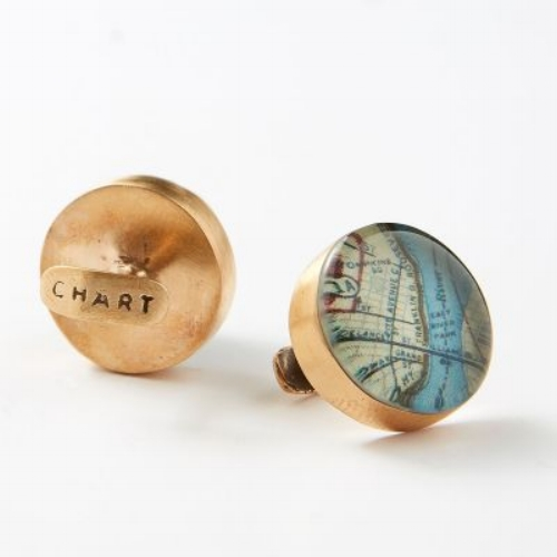 Vintage Navigator Cufflinks [$135] by way of Chart Metalworks