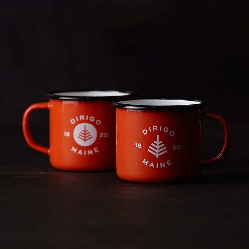 Dirigo Enamel Mugs [$36] by way of Might & Main's 1820 Collection