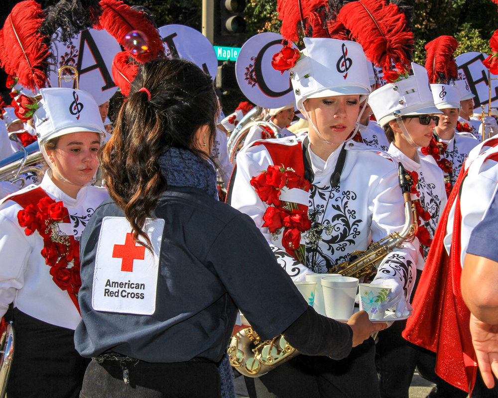 Red Cross First Aid Stations: Pasadena Rose Parade