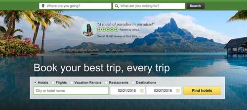 screenshot of trip advisor