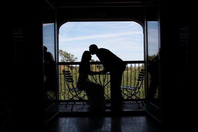 shadow of couple kissing