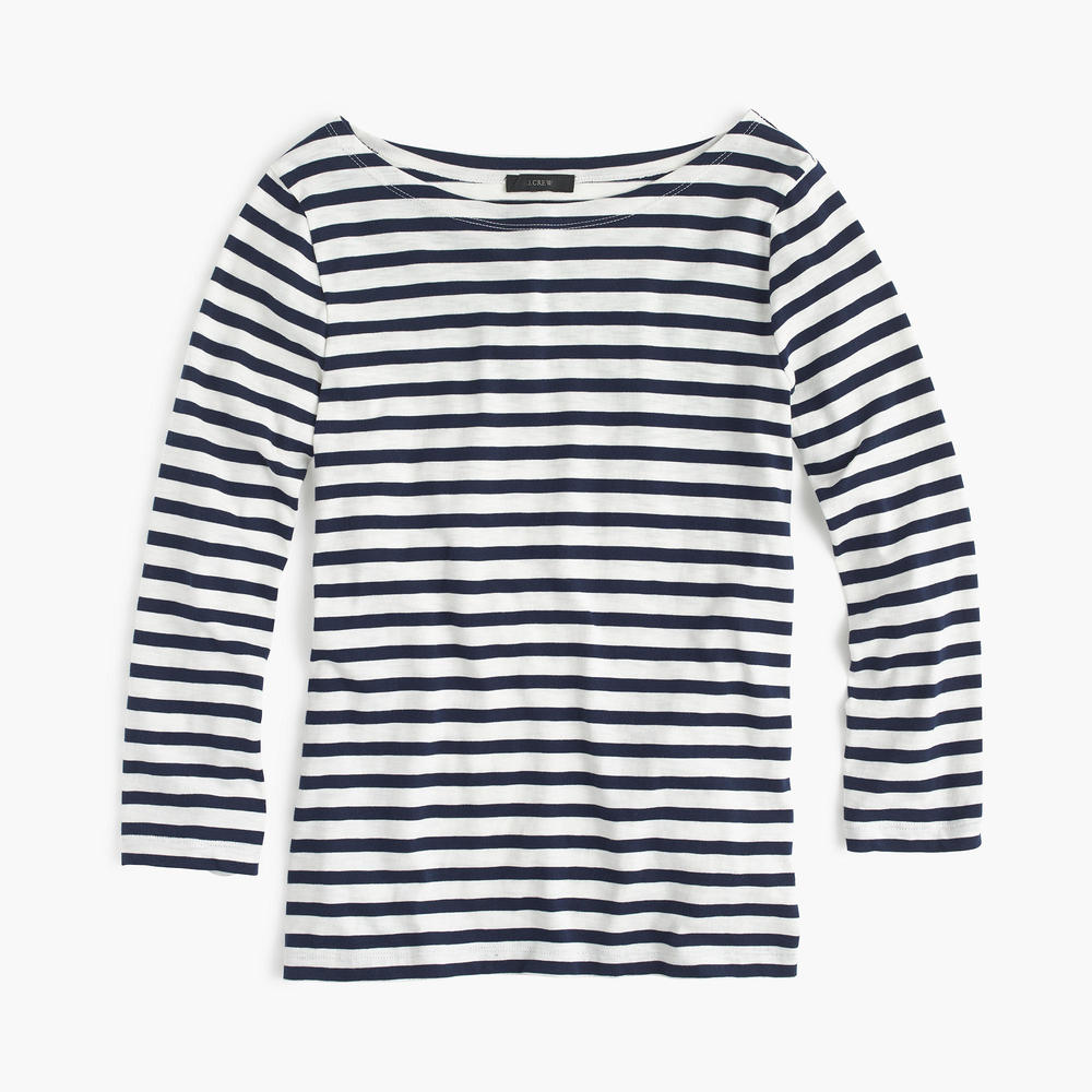 Striped Boatneck Tee by J.Crew
