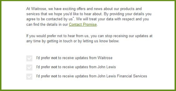 Waitrose Data Protection Compliance