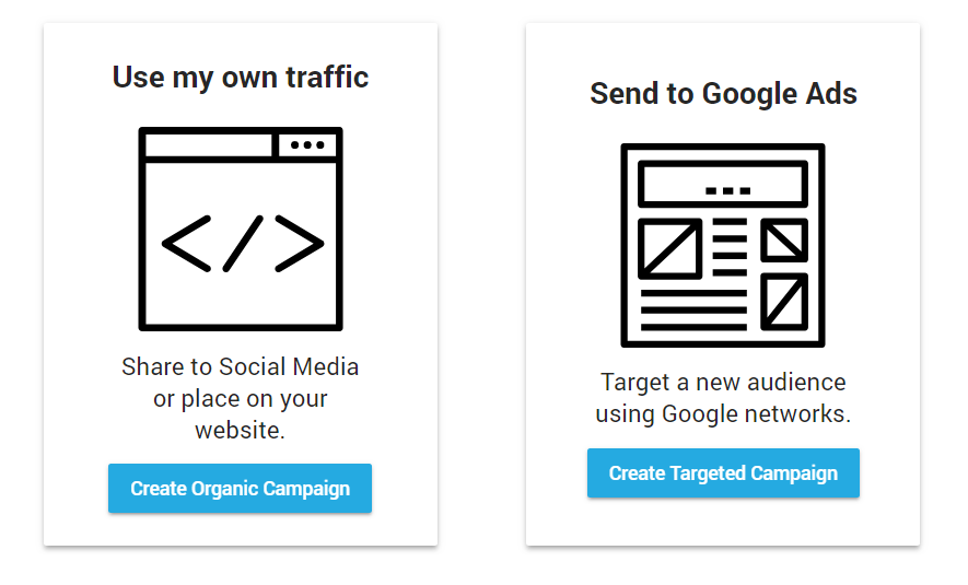 Our users can choose different campaign objectives that best suit their marketing goals.