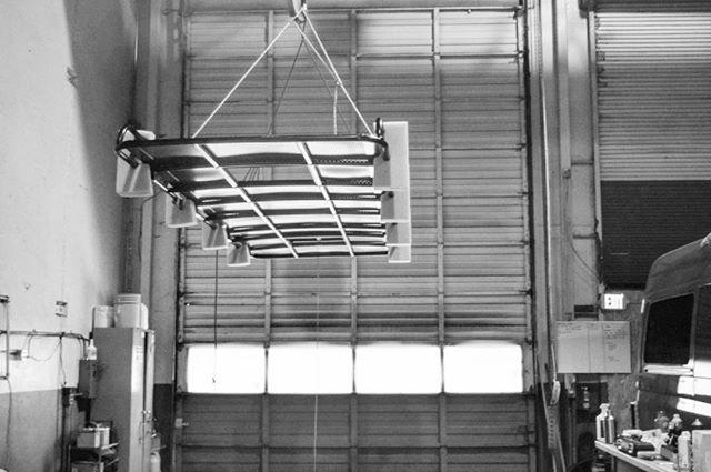 Van next, custom roof rack install for a 4x4 170 @aluminess