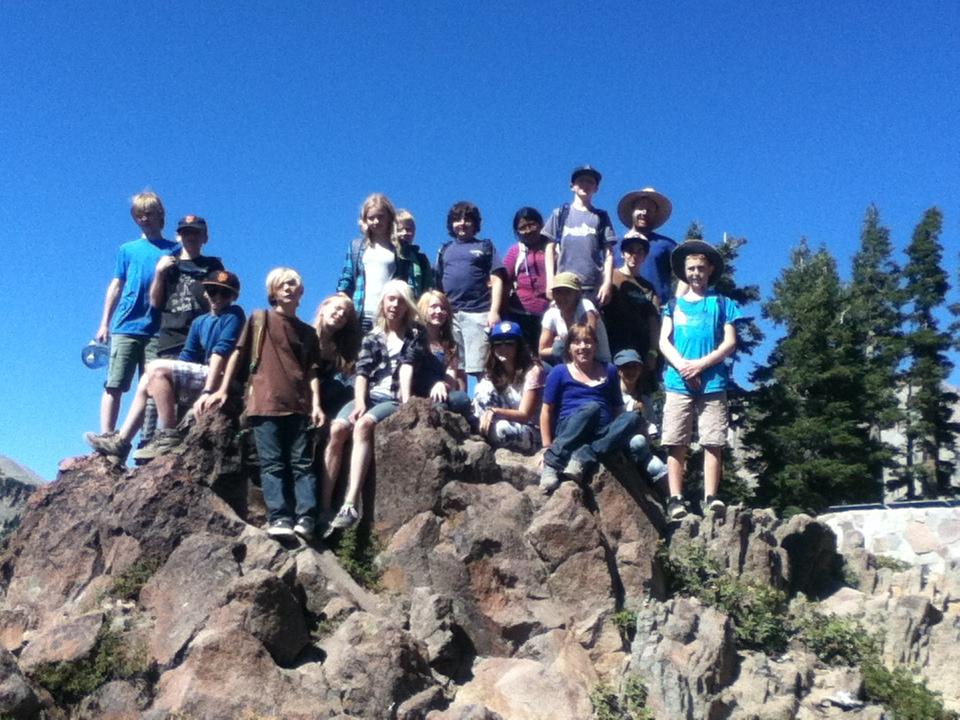 6th Graders visiting Lassen National Park