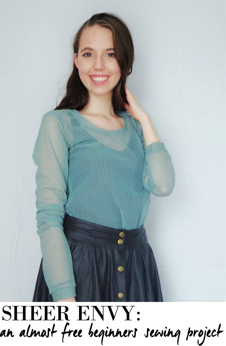 Here's a tutorial on how to sew your own trendy sheer layering shirt. Fun Fact: This whole shirt was almost free!