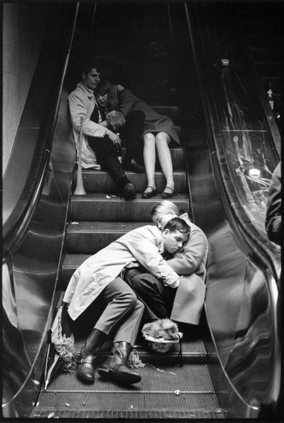 Photo: Grand Central Station, New Year's Eve 1969  © Leonard Freed/Magnum Photos/Courtesy CLAIR Galerie