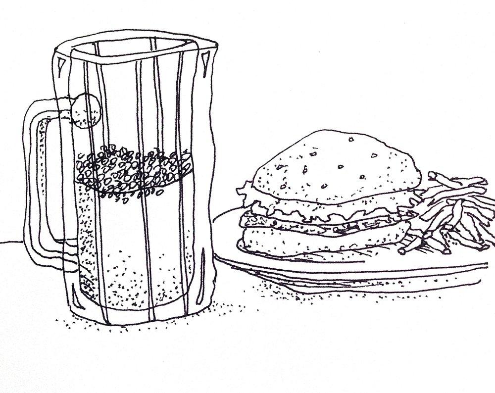 HamburgerandBeer.JPG