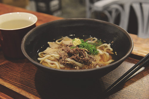 Beef Udon at the best udon house in Toronto - MeNami