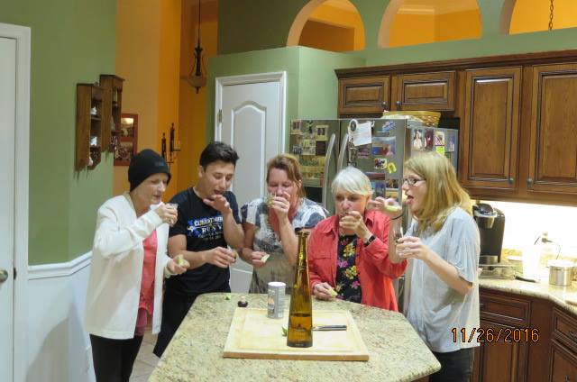 Everyone's family does shots of tequila on Turkey Day, right?!