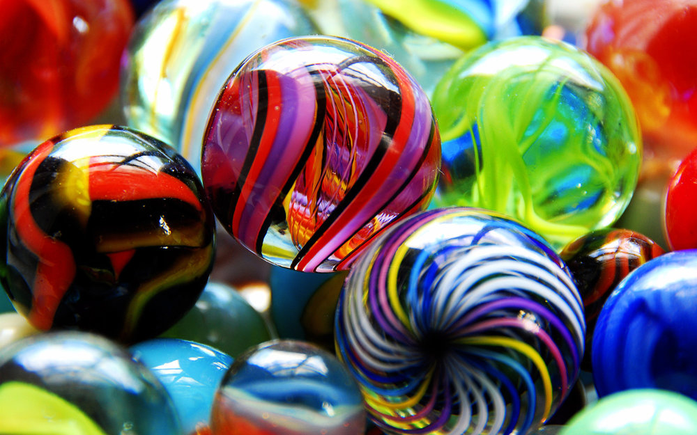 Marbles help you to be in the now, happy and to appreciate every moment in life