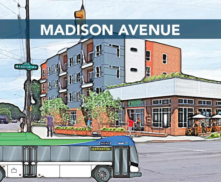 • Promote Madison Avenue as a regional commercial destination • Beautify the corridor with public art and improved streetscapes Download the MADISON AVENUE workplan here
