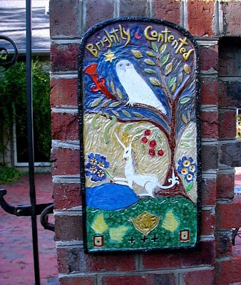Ceramic Garden Plaque, Cathy Kiffney