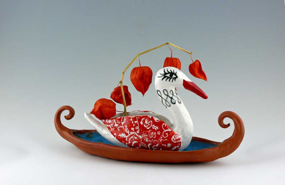 Swan Boat. Cathy Kiffney Ceramics