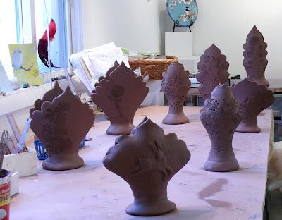 Making Vases Cathy Kiffney Studio