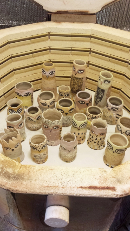 Into the kiln.