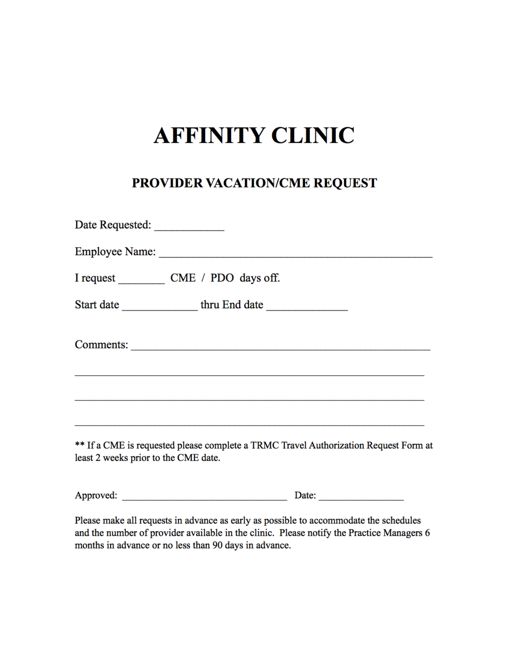 Affinity Clinic PDO
