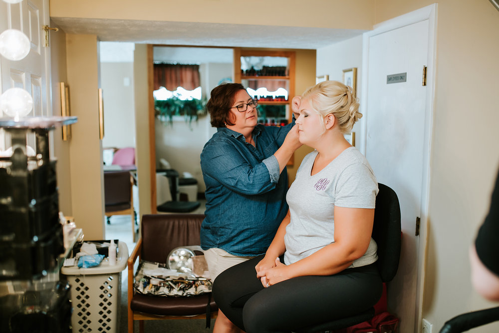 Here's  Jenny  working on one of the lovely Bridesmaids!