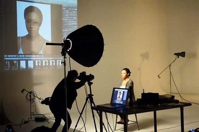 Nadia Winzenried is sharing her expertise at the Broncolor Lighting Workshop in ATL at Bad Wolf Studio Rental.  #Atlanta #photographer #studio
