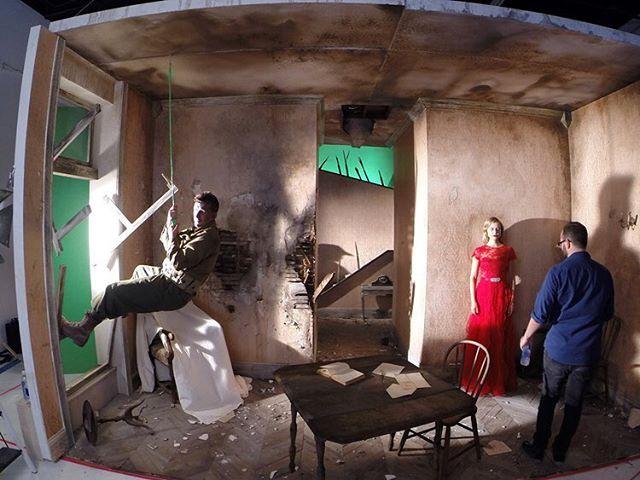 @wediglaxtonphoto team up with set builders @readysetatlanta to build two massive World War II sets at Bad Wolf Studio Rental.  #Atlanta #photographer #studio #wedigandlaxton #readysetatlanta