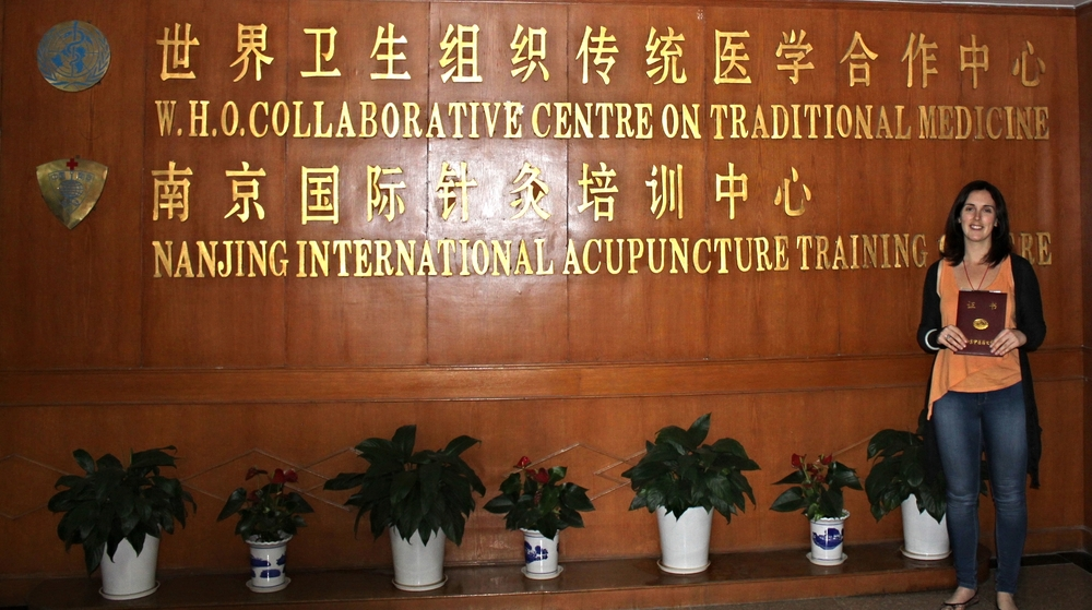 Me at the Nanjing International Acupuncture Training Centre