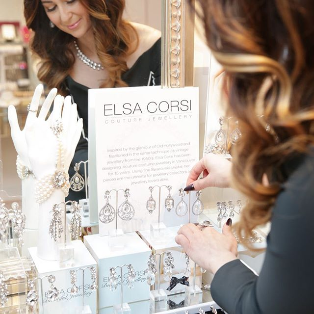 It's the perfect weekend to choose #bridaljewelry! #ElsaCorsi will be in shop to help you find the perfect sparkle and doing on the spot custom consultations! Open 10:30-6pm daily, except Sunday and Monday 📷 @daniela_ciuffaphotography Hair/makeup @nadiaalbanostyleinc