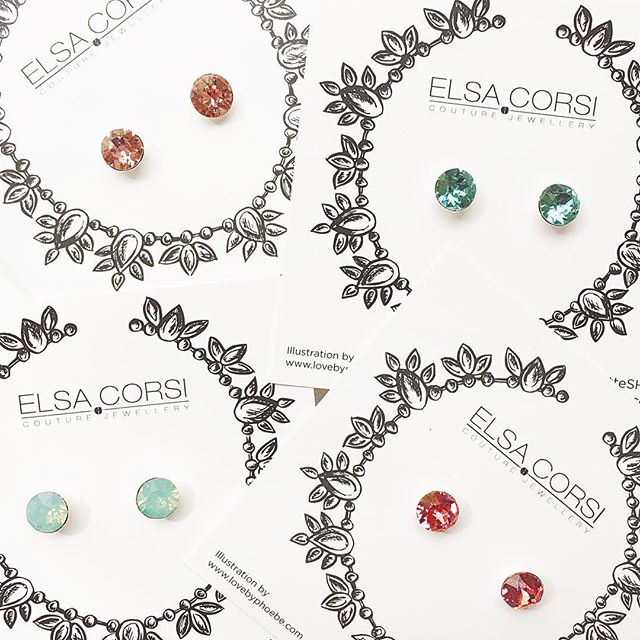 It's beginning to to look a lot like SPRING!! Seriously, you can never have too many #studearrings can you? These ones are $30 each and the prettiest shades of Swarovski Crystal 💎