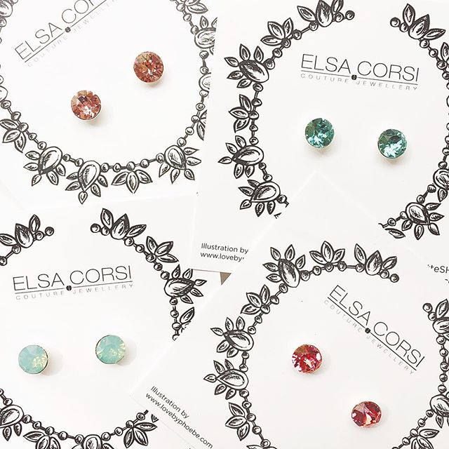 All the pretty spring colors to take your mind off the rain 💗 Also, it's not too late to enter our GIVEAWAY a few posts back for FOUR pairs of clear crystal studs!
