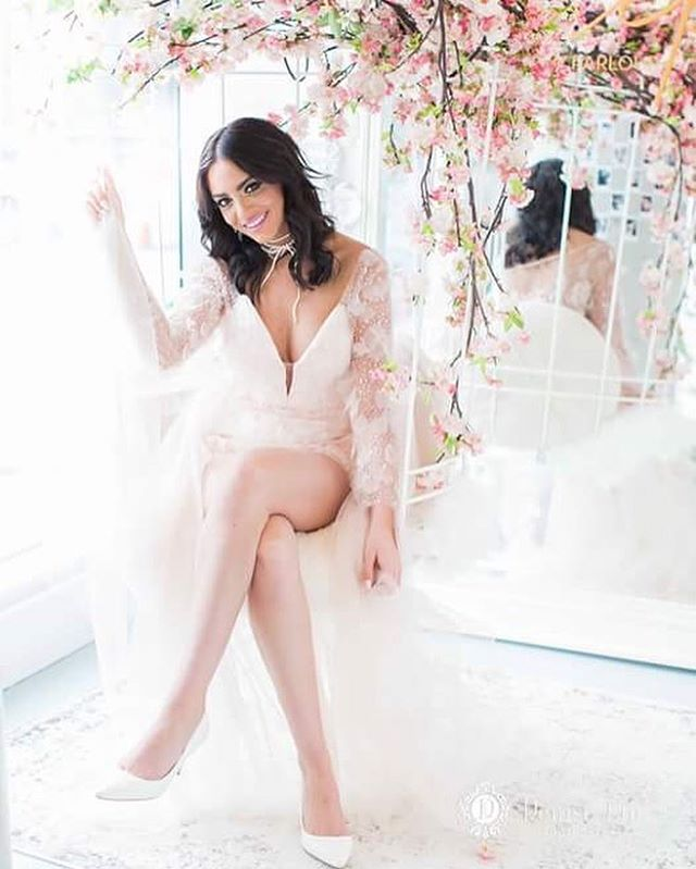 La Vie En Cherry Blossoms 🌸 A little sneek peek from our #cherryblossom short yesterday! More #BTS in our #Inststory 📽 • • • Photographer @deniselinphoto Model @tanisha_amber  Makeup @jasminehoffman Hair @hairbybrands  Nails @prepbeautyparlour  Flowers @dushanflowers  Jewellery #ElsaCorsi @jewelietteshop Bridal jumpsuit and special occasion gown designed by @valencienneTO Cherry Blossom Macarons  @lovesoirette  Coordination @countdownevents