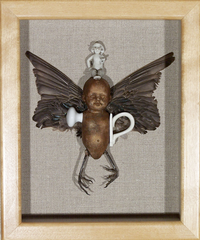 "Best of Show Winner - Elizabeth Yaroz-Ash, ""Spiritus Sanctus #13,"" Mixed Media, Midwestern State University"
