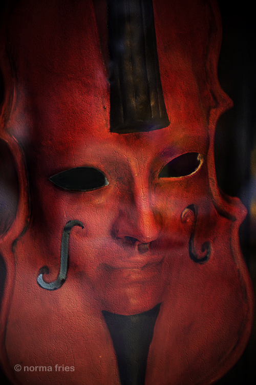 "IT214: ""Venice: red violin mask"""