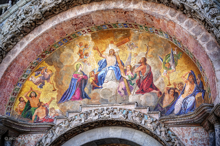 """IT232: """"Venice: detail from one of St. Mark's basilica's doorways"""""""