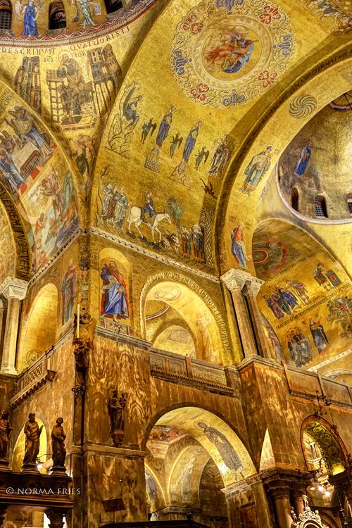 """IT235: """"Venice: St. Mark's Basilica gold interior, II"""""""