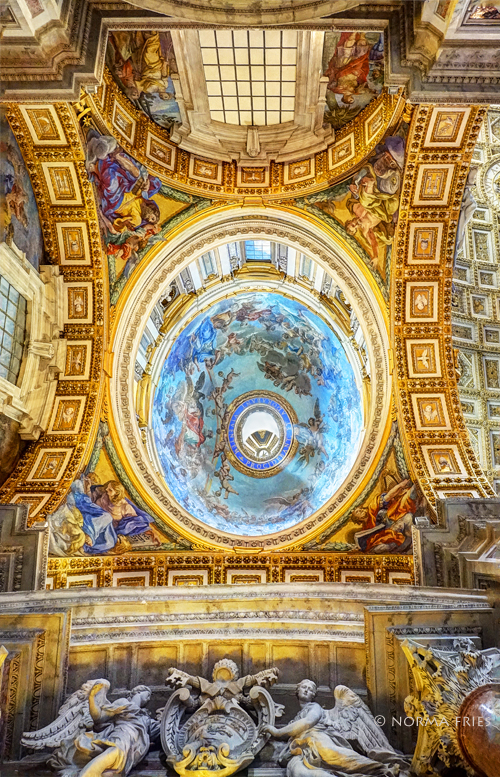 """IT258: """"Rome: St. Peter's Basilica side dome"""""""