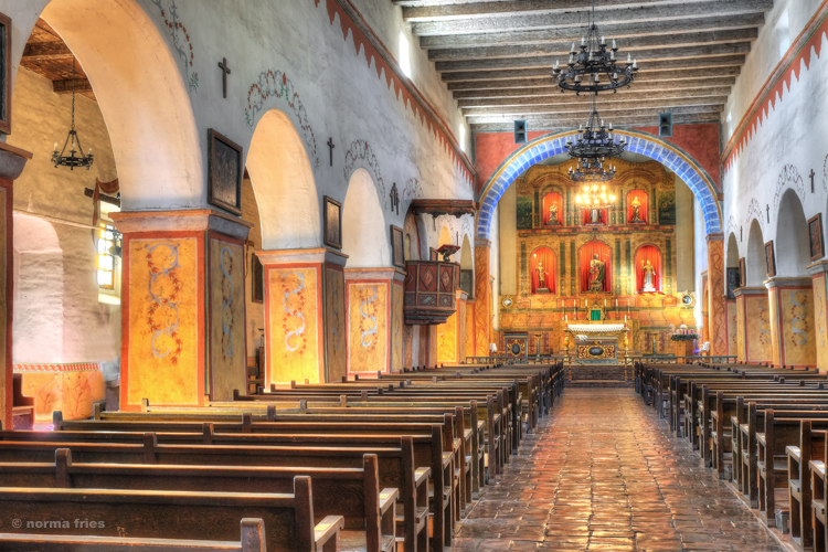 "CM411: ""San Juan Bautista Mission, main altar"""