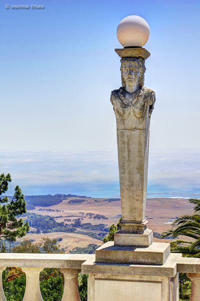 "NC606: ""Neo-classical statue and California coast"""