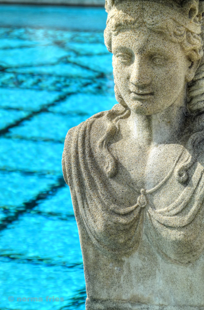 "NC607: ""Neo-classical statue and pool"""
