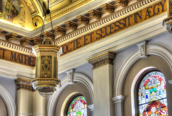 "BA504: ""St. Joseph Basilica: Lamp and windows"""