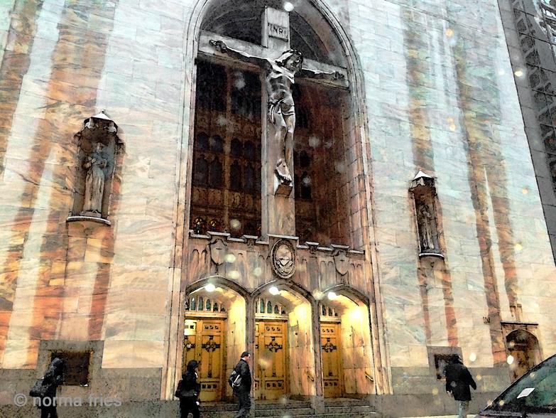 "TU705: ""Chicago: Church in rain"""