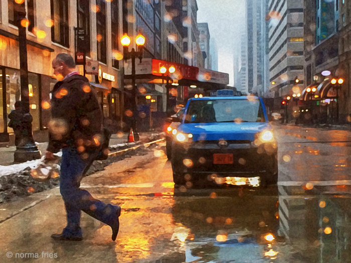 "TU700: ""Chicago: downtown rain"""