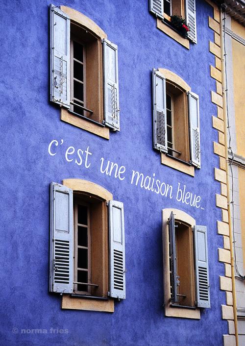 "TU713: ""South France: blue house"""