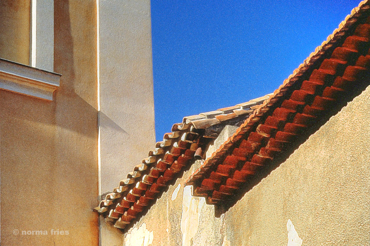 """TU718: """"South France: Weathered rooftops"""""""